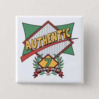 Authentic 7th Birthday Gifts Pinback Button