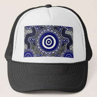 Authentic Aboriginal Art - Gathering Trucker Hat
