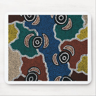 Authentic Aboriginal Art - Riverside Dreaming Mouse Pad
