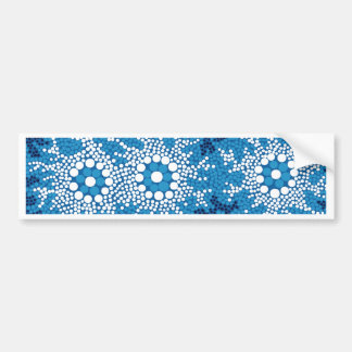 Authentic Aboriginal Art - Waterhole Dreaming_ Bumper Sticker