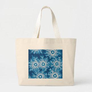 Authentic Aboriginal Art - Waterhole Dreaming_ Large Tote Bag