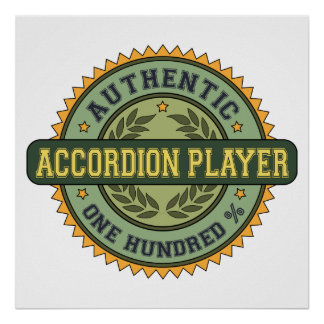 Authentic Accordion Player Posters