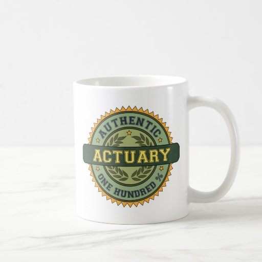 Authentic Actuary Classic White Coffee Mug