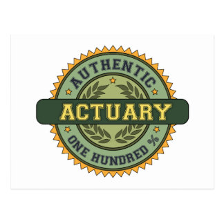 Authentic Actuary Post Cards