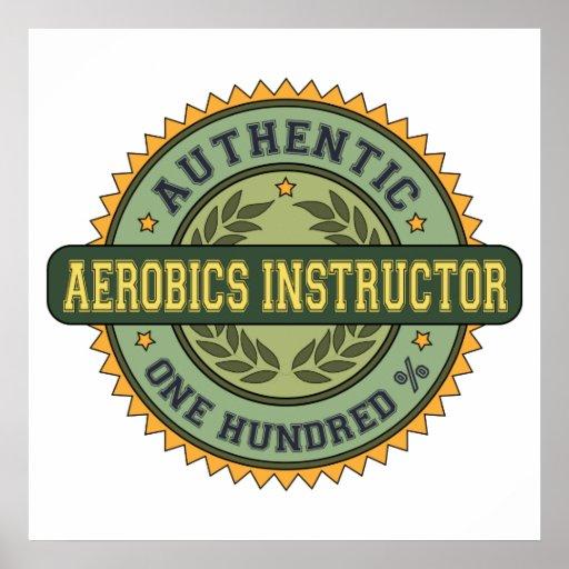 Authentic Aerobics Instructor Print