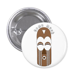 Authentic African Goma mask button