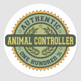 Authentic Animal Controller Classic Round Sticker