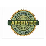 Authentic Archivist Postcard