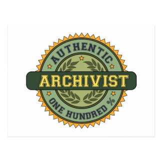 Authentic Archivist Postcard