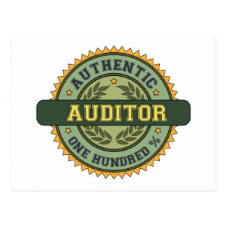 Authentic Auditor Post Card