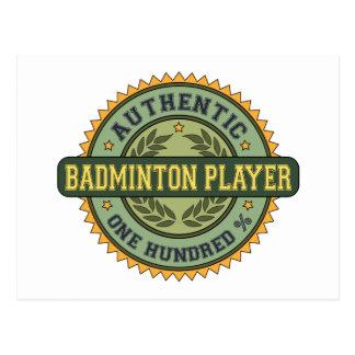 Authentic Badminton Player Postcard