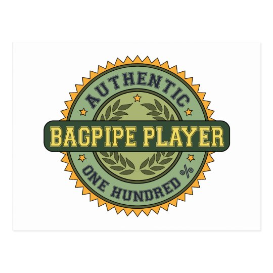 Authentic Bagpipe Player Postcard