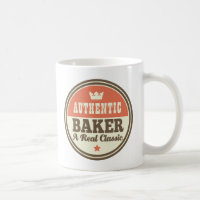 Authentic Baker Vintage Gift Idea Classic White Coffee Mug