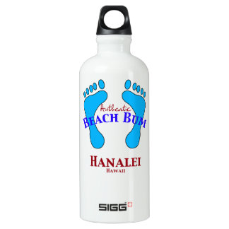 Authentic Beach Bum Hanalei Kauai Water Bottle