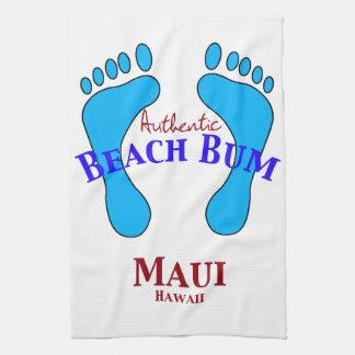Authentic Beach Bum Maui Hawaii Towel