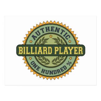 Authentic Billiard Player Postcard
