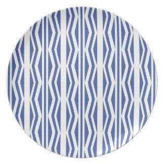Authentic Blue White geometric pattern Plates