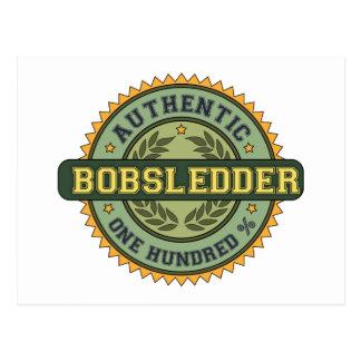 Authentic Bobsledder Postcard