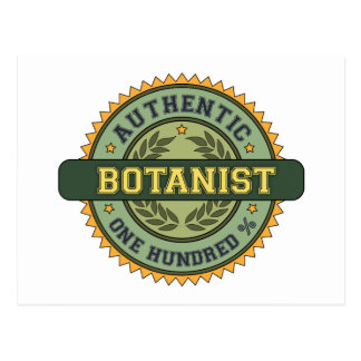 Authentic Botanist Postcard
