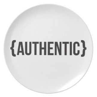 Authentic - Bracketed - Black and White Party Plate