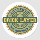 Authentic Brick Layer Round Stickers