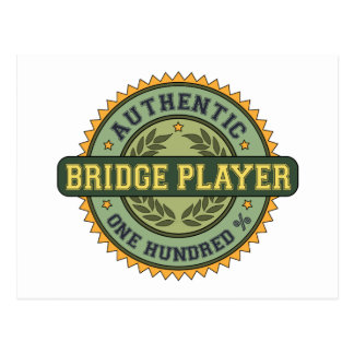 Authentic Bridge Player Postcard