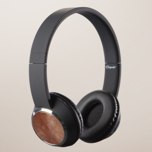 Authentic Brown Leather Look Headphones