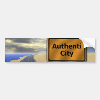 authentic bumper sticker