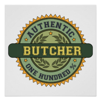 Authentic Butcher Poster
