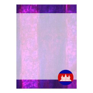 "Authentic Cambodian Flag 5"" X 7"" Invitation Card"