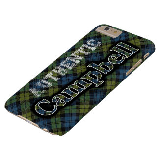 Authentic Campbell Scottish Tartan Design Barely There iPhone 6 Plus Case