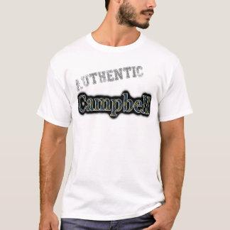Authentic Campbell Tartan Name Design T-Shirt