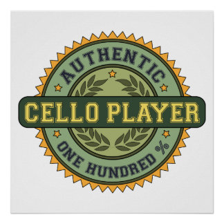Authentic Cello Player Poster