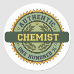 Authentic Chemist Round Sticker
