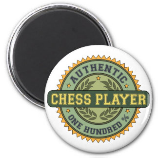 Authentic Chess Player 2 Inch Round Magnet