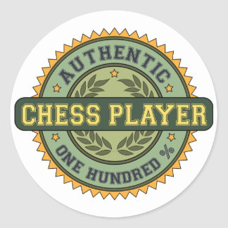 Authentic Chess Player Classic Round Sticker