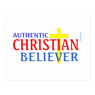 AUTHENTIC CHRISTIAN BELIEVER POSTCARD