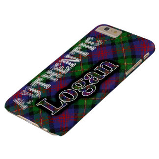 Authentic Clan Logan Scottish Tartan Design Barely There iPhone 6 Plus Case