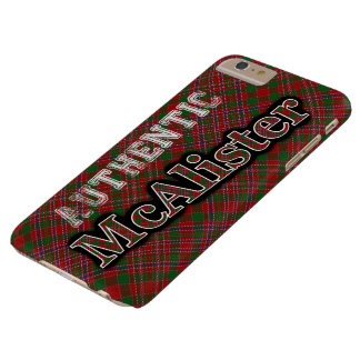 Authentic Clan McAlister Scottish Tartan Design Barely There iPhone 6 Plus Case