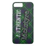 Authentic Clan McIntyre Scottish Tartan Design iPhone 8 Plus/7 Plus Case