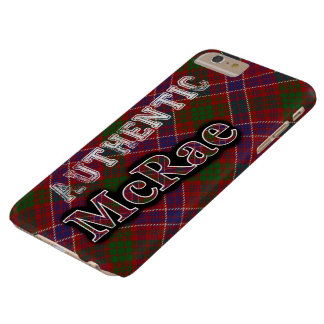 Authentic Clan McRae Scottish Tartan Design Barely There iPhone 6 Plus Case