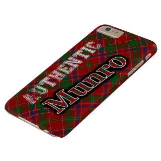 Authentic Clan Munro Scottish Tartan Design Barely There iPhone 6 Plus Case