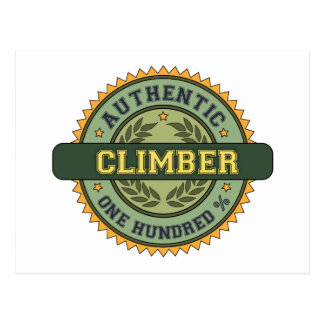Authentic Climber Post Card