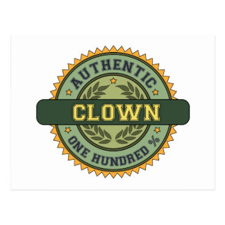 Authentic Clown Postcards