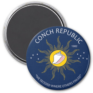 Authentic Conch Republic AVOID FAKES 3 Inch Round Magnet