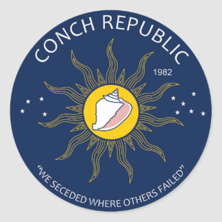 Authentic Conch Republic AVOID FAKES Classic Round Sticker