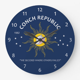 Authentic Conch Republic AVOID FAKES Large Clock