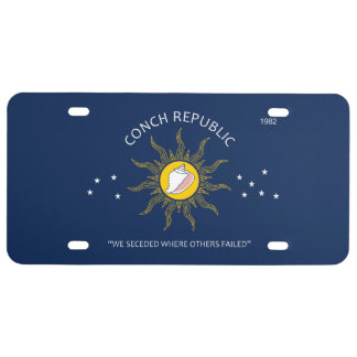 Authentic Conch Republic AVOID FAKES License Plate