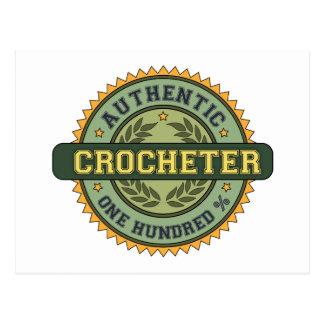 Authentic Crocheter Postcard