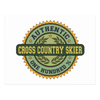Authentic Cross Country Skier Postcard